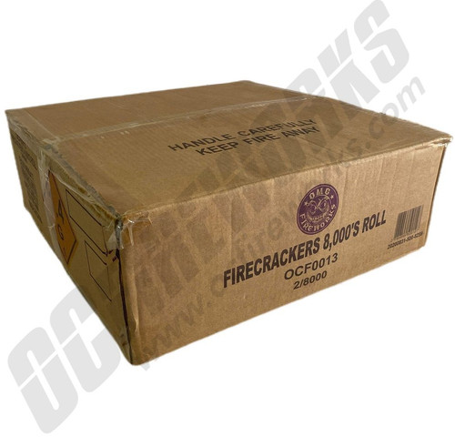 Wholesale Fireworks OMG Crackers 8000 Roll Case 2/8000