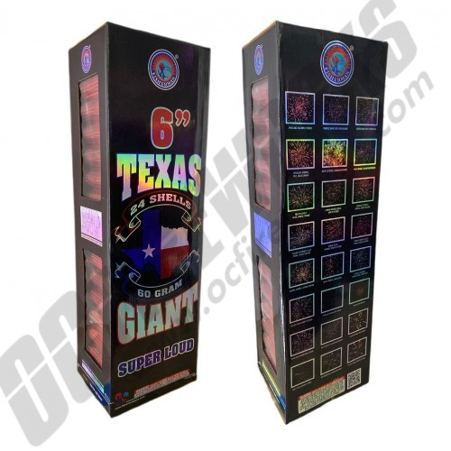 """Texas Giant 6"""" Canister Shells 24ct"""