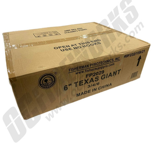 """Wholesale Fireworks Texas Giant 6"""" Canister Shells 3/24 Case"""