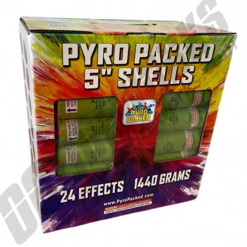 5 Inch Pyro Packed Canister Shells 24pk