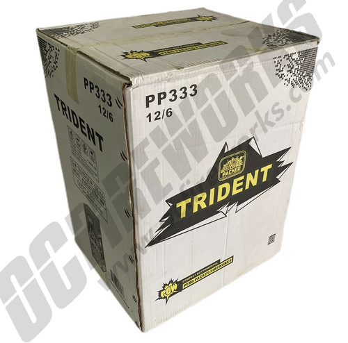 Wholesale Fireworks Trident Triple Break Artillery Shells Case 12/6