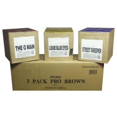 3 Pack Brown 500 Gram Assortment