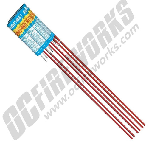 Flying Color Butterfly Rockets 6/Pk