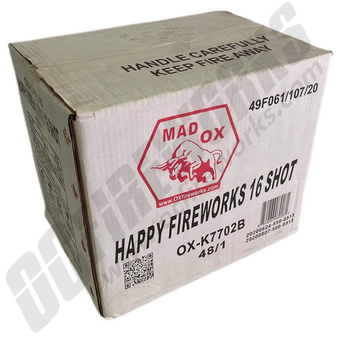Wholesale Fireworks 16 Shot Happy Case 48/1