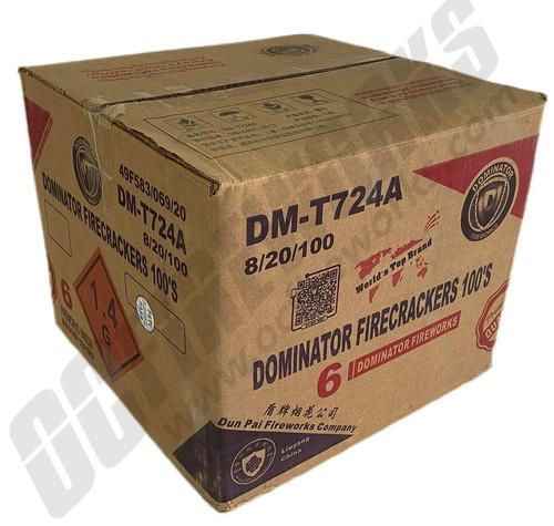 Wholesale Fireworks Dominator Firecrackers 100s Case 8/20/100