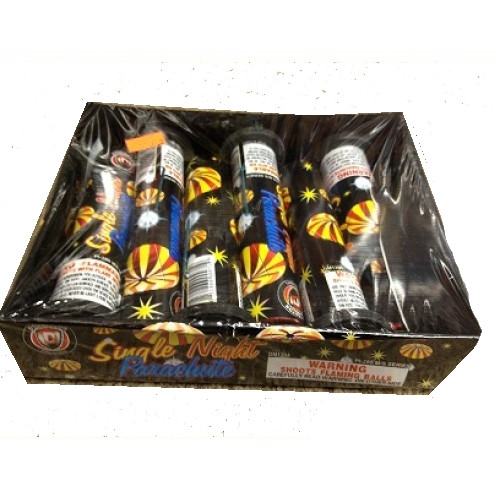 Wholesale Fireworks Single Night Parachutes 6/Pk Case 24/6