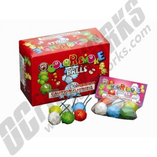 Color Smoke Balls Counter Display Box W/FREE SHIPPING !!