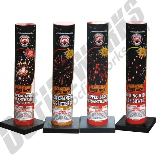 """3"""" Single Shot Tube With Assorted Effects #500"""