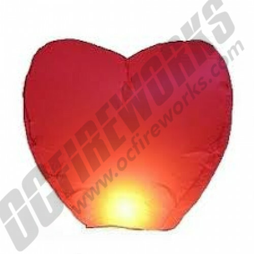 Heart Shaped Wedding Sky Lantern