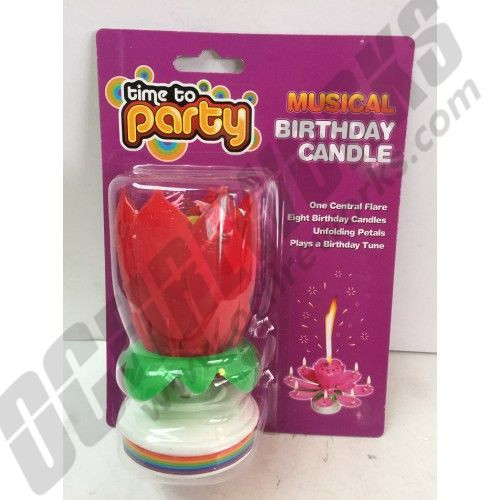 8 Flame Musical Rotating Sparkler Birthday Candle
