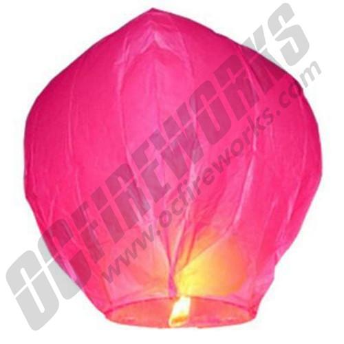 It's A Girl Hot Pink Sky Lantern
