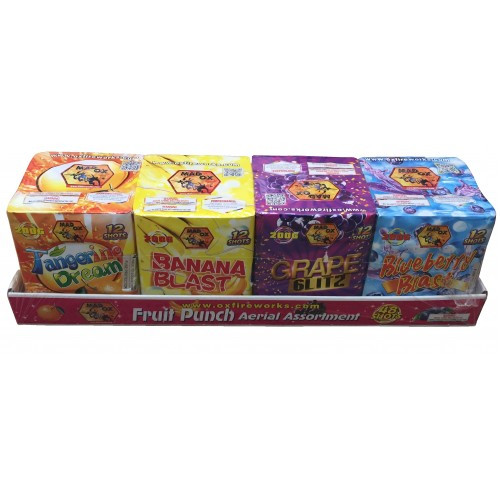 Wholesale Fireworks Fruit Punch Assortment 4-Pack 3/4