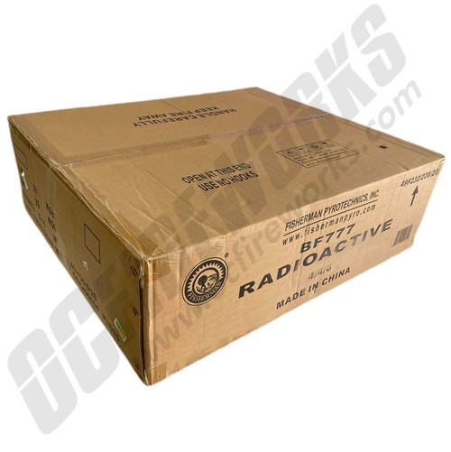 "Wholesale Fireworks Radioactive 5"" Super Canister Shells 60 Gram 24ct Kit Case 4/24"