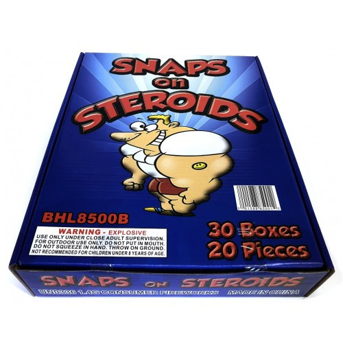 Wholesale Fireworks Snaps On Steroids Case 10/30/20