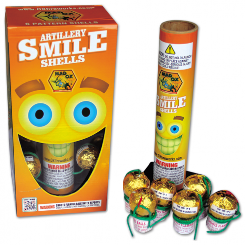 Wholesale Fireworks Smiley Face Artillery Shells Case 12/6