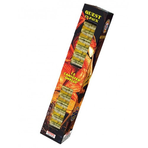 Quest 60g Canister Shell Reloadable Artillery Kit 12ct