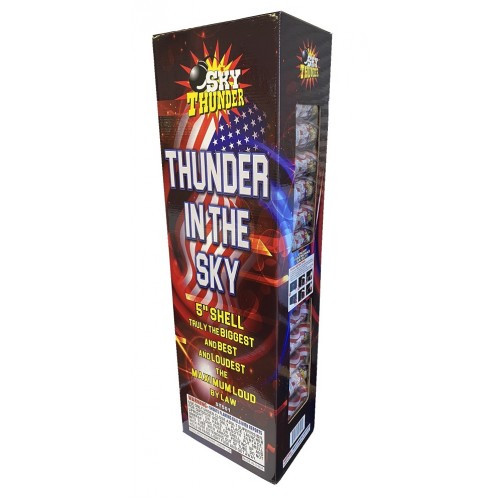 "Wholesale Fireworks Thunder In The sky 5"" Canister Shell Kit Case 4/24"