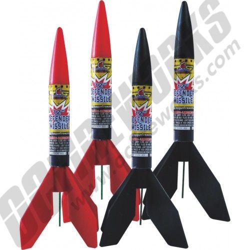 """Defender Missile 12"""" 4pk"""