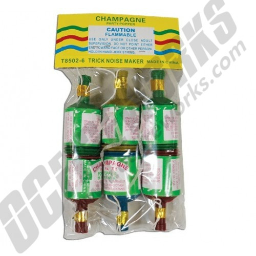 Champagne Party Poppers 6pk