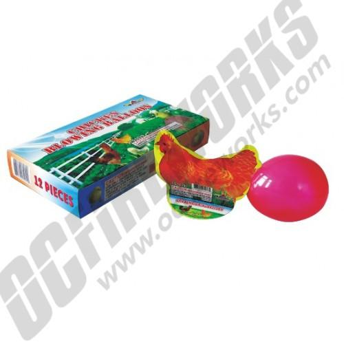 Chicken Blowing Balloon 12pk