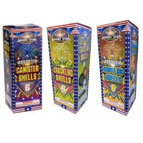 Bright Star Canister 18 Shell Assortment Pack