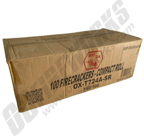 Wholesale Fireworks Mad Ox 100ct Firecracker Superstring Case 160/1