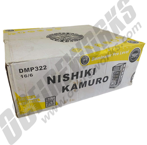 """Wholesale Fireworks Nishiki Kamuro Willow 5"""" Canister Artillery Case 16/6"""