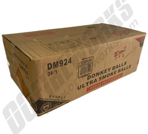 "Wholesale Fireworks Donkey Balls Ultra 4"" Smoke Balls 36/1 Case"
