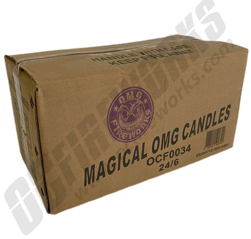 Wholesale Fireworks Magical 10 Ball OMG Candle 24/6 Case