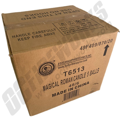 Wholesale Fireworks 5 Ball China Roman Candles Case 48/6