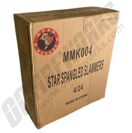 "Wholesale Fireworks Star Spangled Slammers 5"" Super Shells Case 4/24"