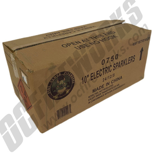 Wholesale Fireworks #10 Classic Color Electric Sparklers Case 24/12/8
