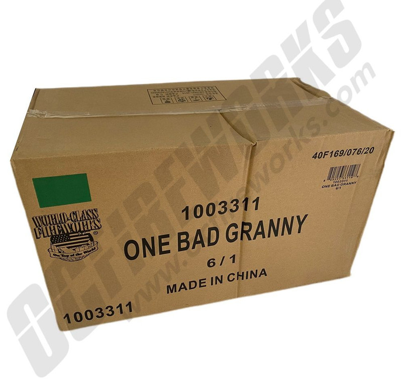 Wholesale Fireworks One Bad Granny 6/1 Case