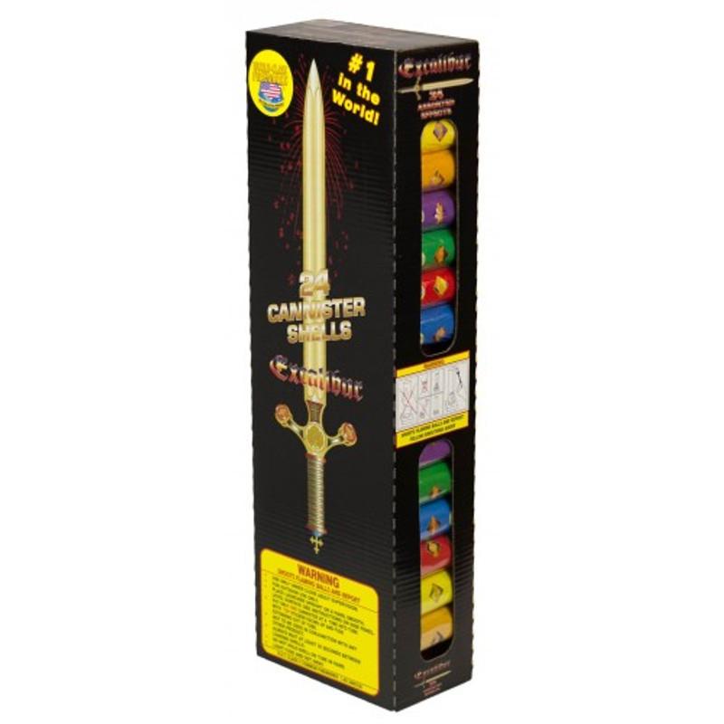 Wholesale Fireworks Excalibur Artillery Shells Kit Case 24/6