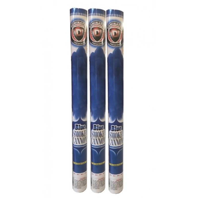 Gender Reveal 60cm Powder Smoke Cannon (Blue) Quick Shot Party Popper 3pk