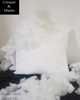 45 x 45cm cushion inserts Filled with white Hypoallergenic Fibre and a Breathable non woven outer