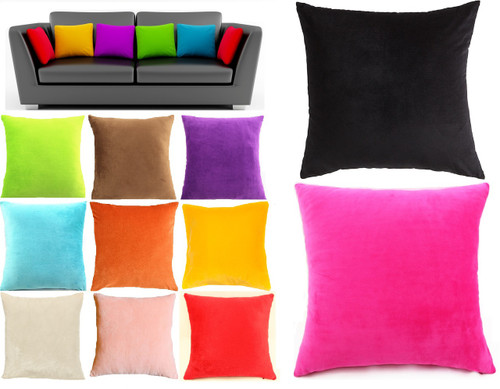 Velour Cushion + insert Filled Cushions 65cm Color Options