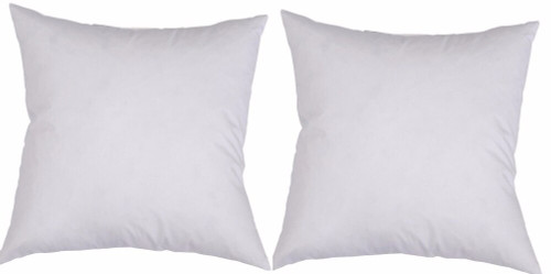 Twin Pack of 2 Square Cushion Inserts 75 cm x 75 cm includes post