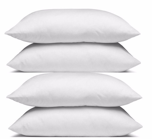 4 Hotel Quality Standard Size Pillows family Pack Cotton