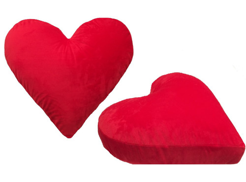 Red Velour Heart Cushion