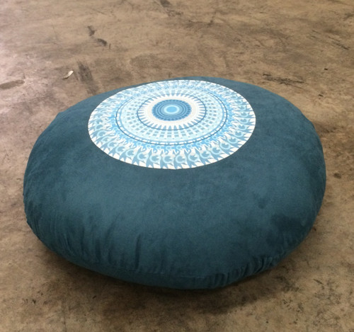 Mandala Yoga Floor Cushion Mediation Floor Cushion Micro Suede Cotton