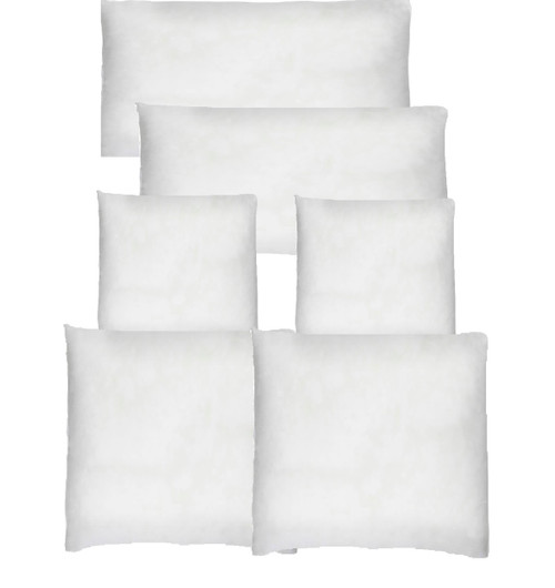 16  assorted Cushion inserts bulk 30x50, 60cm,50cm