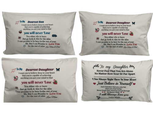 Daughter or Son Printed Cotton Pillowcase or Customise