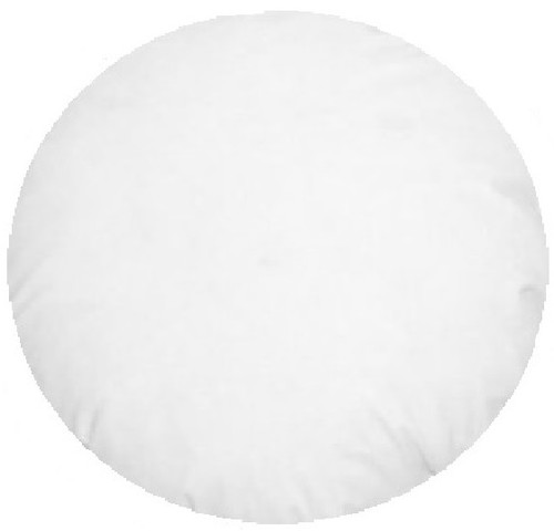 Round Cushion Insert 45 cm White
