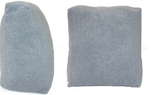 Grey Bed Reading Pillow Cushion 50cm wide Removable Cover