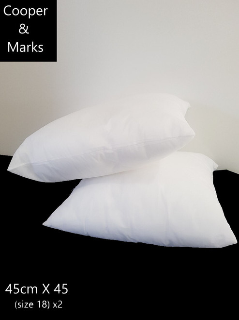 Cooper & Marks Twin Pack Polyester Fill Cushion inserts 45cm x 45cm