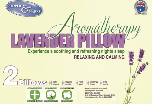 2 Aromatherapy Lavender Infused Pillow Cotton Cover