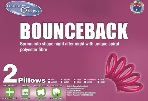 Cooper and Marks Bounce back pillow