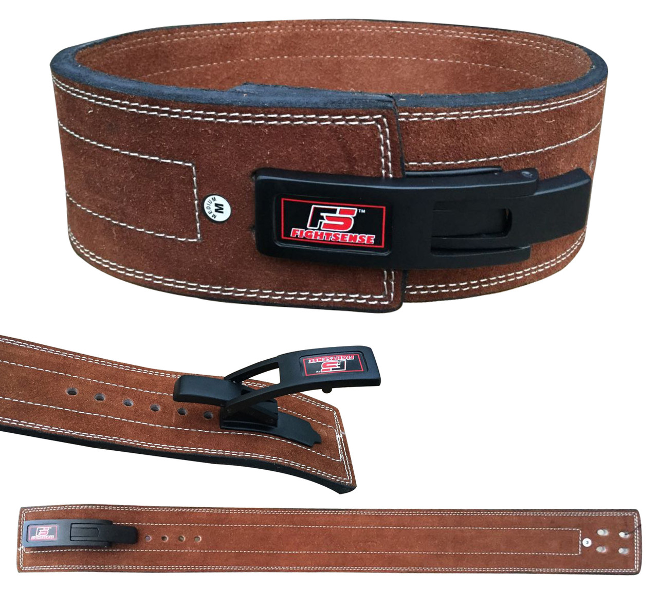 LEATHER LIFTING BELT 4 MED training gym fitness powerlifting bodybuilding NEW