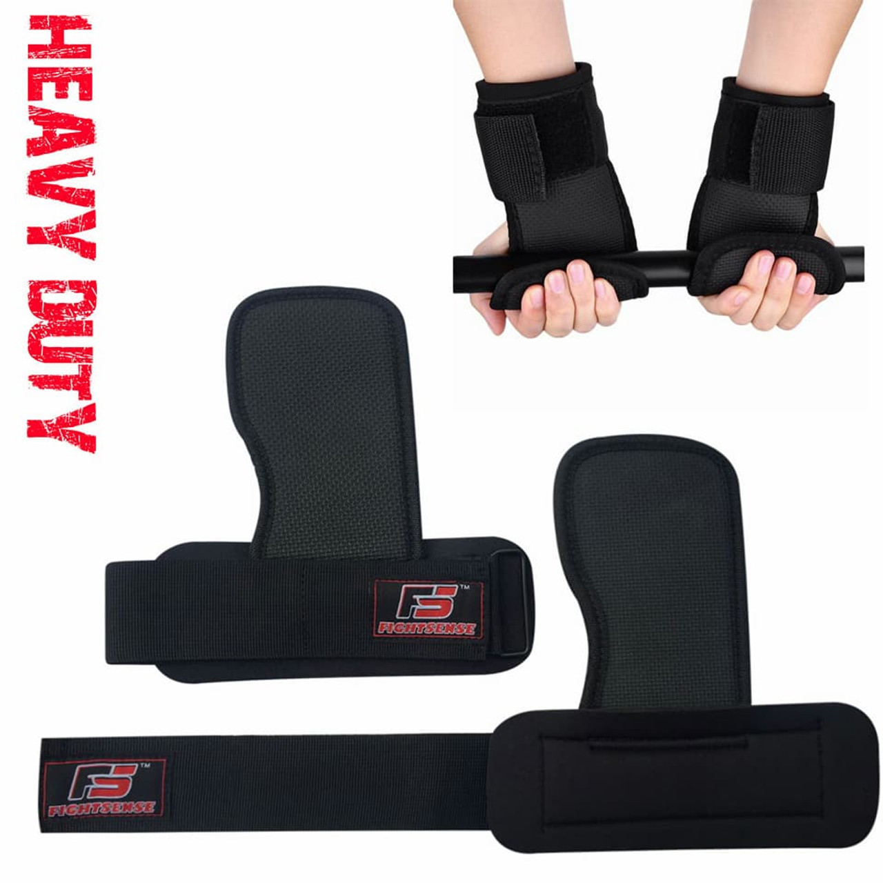 Weight Lifting Training Gym Straps Hand Bar Wrist Support Gloves Palm Wrap Grips